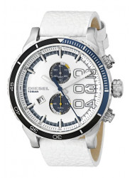 Diesel Men's DZ4351 White Leather Quartz Watch