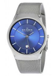 Skagen Men's 956XLTTN Quartz Titanium Blue Dial Watch
