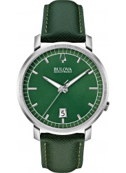 Bulova Men's Accutron II Green Dial Green Leather Watch 96B215