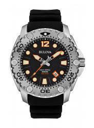 Bulova Men's Sea King Professional Dive Black Rubber Strap Watch 96B228