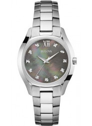 Bulova Women's Diamond Stainless Steel Watch 96P158