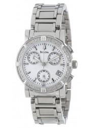 Bulova Women's Diamond Chronograph Mother of Pearl Dial Watch 96R19