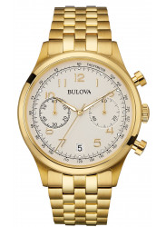 Bulova Men's Classic Chronograph Gold Toned Watch 97B149