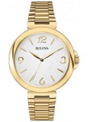 Bulova Women's White Dial Gold-Tone Watch 97L139
