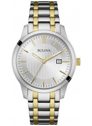 Bulova Men's Silver Dial Two Tone Stainless Steel Watch 98B263