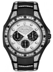Bulova Men's Chronograph Silver Dial Watch 98C102