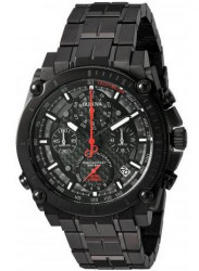 Bulova Men's Precisionist Chronograph Black Stainless Steel Watch 98G257