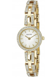Bulova Women's Crystal Mother of Pearl Dial Watch 98L213