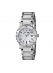 Bulova Women's 98P122 Highbridge Substantial Ceramic & Stainless Steel Bracelet Wrist Watch