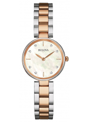 Bulova Women's Mother Of Pearl Dial Two Tone Watch 98P147