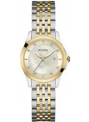 Bulova Women's Mother Of Pearl Dial Two Tone Watch 98P148