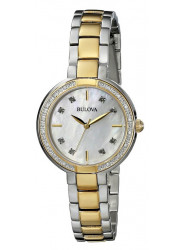 Bulova Women's 98R172 Stainless Steel and Rose Tone Bracelet with Diamond Accent