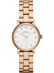 Marc by Marc Jacobs Women's Baker White Dial Rose Gold-Tone Watch MBM3248