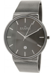 Skagen Men's Ancher Grey Stainless Steel Mesh Watch SKW6108