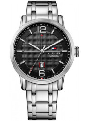 Tommy Hilfiger Men's George Black Dial Stainless Steel Watch 1791215
