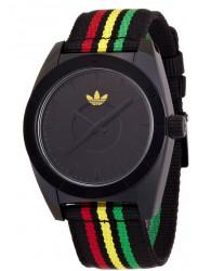 Adidas Unisex Santiago Black Dial Rasta Watch ADH2663