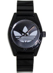 Adidas Women's Santiago Black Rubber Watch ADH2776