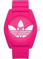 Adidas Unisex Santiago Pink Rubber Watch ADH6170