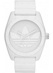 Adidas Unisex Santiago White Dial White Rubber Watch ADH6166