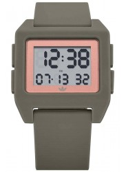 Adidas Men's Archive SP1 Digital Rose Gold Dial Clay Rubber Watch Z15 3351-00