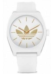 Adidas Men's Process SP1 Gold Trefoil White Dial White Rubber Watch Z10 3374-00