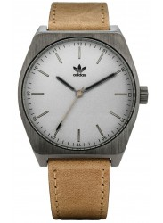 Adidas Men's Process L1 Silver Dial Beige Leather Watch Z05 2916-00