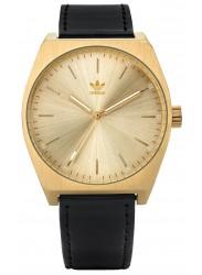 Adidas Men's Process L1 Gold Dial Black Leather Watch Z05 510-00