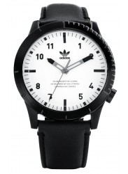 Adidas Men's Cypher LX1 White Dial Black Leather Watch Z06 005-00