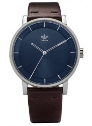Adidas Men's District L1 Navy Dial Brown Leather Watch Z08 2920-00