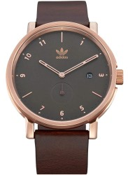 Adidas Men's District LX2 Olive Dial Brown Leather Watch Z12 3038-00