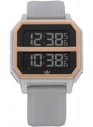 Adidas Men's Archive R2 Digital Copper Dial Clear Granite Rubber Watch Z16 3272-00