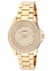 Fossil am4454 Retro Traveler Rose Dial Rose Gold-tone Ladies Watch