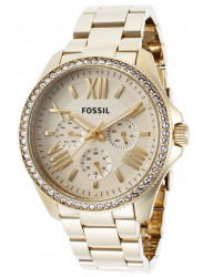 Fossil Women's Cecile Champagne Dial Gold Tone Watch AM4482