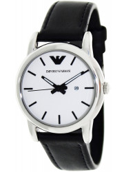 Emporio Armani Men's Black Leather Watch AR1695
