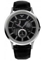 Emporio Armani Men's Meccanico Automatic Black Leather Watch AR4664