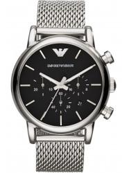 Emporio Armani Men's Chronograph Black Dial Stainless Steel Mesh AR1811