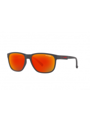 Arnette Men's Urca Dark Grey Red/Yellow Rectangle Sunglasses AN4257 26206Q-57