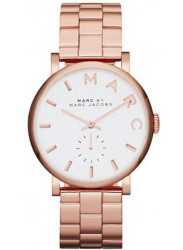 Marc by Marc Jacobs Women's White Dial Rose Gold Tone Watch MBM3244