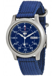 Seiko Men's Automatic Blue Dial Canvas Watch SNK807