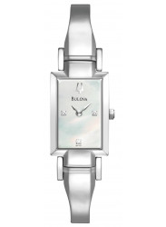 Bulova Women's Mother Of Pearl Stainless Steel Watch 96P137