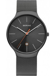 Bering Unisex Grey Dial Stainless Steel Mesh Watch 13338-077