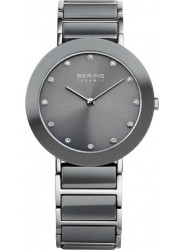 Bering Women's Grey Mother Of Pearl Dial Two Tone Ceramic Watch 11429-789