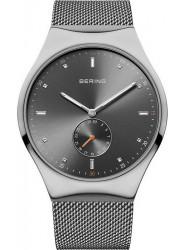 Bering Men's Smart Traveller Grey Dial Stainless Steel Mesh Watch 70142‐077