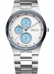 Bering Men's Sale Chronograph White Dial Stainless Steel Watch 32339-707