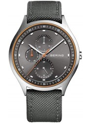 Bering Men's Titanium Grey Dial Grey Fabric Watch 11741-879
