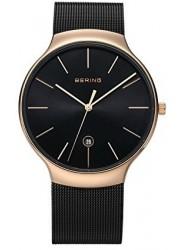 Bering Unisex Black Dial Stainless Steel Mesh Watch 13338-262