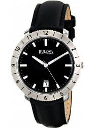 Bulova Men's Accutron II Moonview Black Leather Watch 96B205