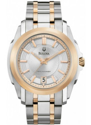 Bulova Men's Precisionist Silver Dial Two Tone Watch 98B141