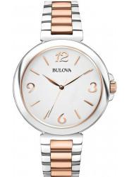 Bulova Women's White Dial Two-Tone Watch 98L195