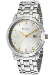 Bulova Men's Silver Dial Stainless Steel Watch 96B196